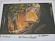 More details for brothers hildebrandt hand signed lithograph tolkien years the return of gandalf