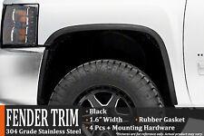 2016-2018 Chevrolet Silverado 1500 2500 3500 HD Black Fender Wheel Moulding