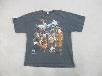 WWE John Cena Shirt Adult Extra Large Gray White WWF Wrestling Wrestler Mens