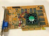 RARE VINTAGE ASUS V6600 32M TF NVIDIA GEFORCE 256 AGP 32 MEG VGA CARD OEM DIRECT