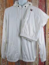 Vintage 80s Deadstock NWT FILA Retro Running Track Suit Sz 42 White