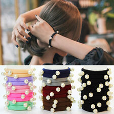5PCS Women Hairband Elastic Rope Girls Hair Band Ponytail Holder Headband Strap