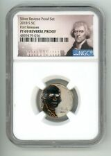 2018 S JEFFERSON NICKEL 5C REVERSE PROOF NGC PF69 FIRST RELEASES 4859479-036