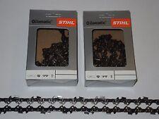 """2x Original Stihl Sägekette 45 cm 1,5 mm 3/8""""  68 TG VOLLMEISSEL"""
