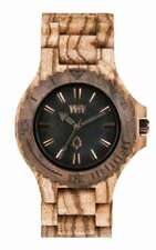 WeWood Date Zebrano Rough Wooden Wood We Wood Watch Brand New In Box Authentic