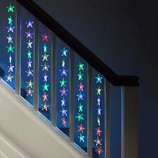 64 LED Rideau lumineux étoile Changement de couleur Noël Décoration Fenêtre