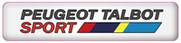 Peugeot Talbot Sport PTS White Gel Domed Badge (90mm X 20mm) LAST STOCK