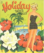 Vintage Uncut 1950s Holiday Paper Doll Laser Reproducton~Lo Pr~Hi Qu Free Ship