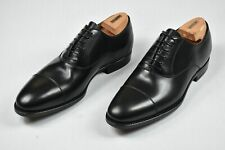 Kiton Men's Black Leather Cap toe Dress Shoes 8 NEW US 9