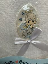 Precious Moments Baby Collection Nap Time Gift Set Vtg Soft Shawl Blanket 35x35