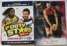 2018 AFL Select Footy Stars Full Set Of Common Cards