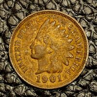 1901 Indian Head Cent ~ VERY FINE (VF) Cndtn ~ $20 ORDERS SHIP FREE!