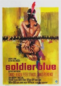 Soldier blue Candice Bergen vintage movie poster print