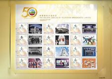 Hong Kong 2017 50 Year of Television Broadcasts Limited Special S/S FDC Pack TVB