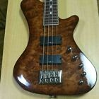Champ Kraken 4 String Maple Brown Top Electric Bass Guitar S/N 0809 for sale
