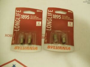 Sylvania Long Life - Two 2 Packs - 1895LL Light Bulb Parking Clock Glove Box