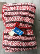 Kidka Iceland 100% Icelandic Wool Throw Red and White – New
