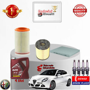 Inspektionskit Filter Öl Kerzen Alfa Romeo Giulietta 1.4 TB 125KW Von 2011