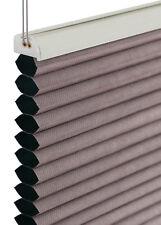 Wabenplissee 60x140cm silber-grau blackout blickdicht Rollo Honeycomb Honigfalte