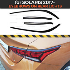 Eyelids Eyebrows on rear lights for Hyundai Solaris / Accent 2017- ABS plastic