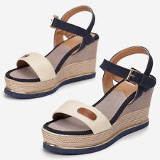 Womens Ladies Ankle Strap Wedge Platform Heel Sandals Summer Women Shoes Size