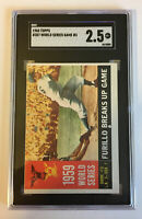 "1960 Topps #387 ""Furillo Breaks Up Game"" 1959 WS - SGC 2.5"