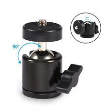 """Black 360°Metal Mini Ball Head ballhead for 1/4"""" Screw Mount Tripod DSLR Camera"""