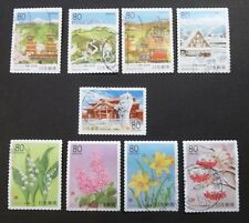 JAPAN USED 2010 PREFECTURE SELF ADHESIVES 9 VAL VF COMPLETE SET SC# 3282 - 3290