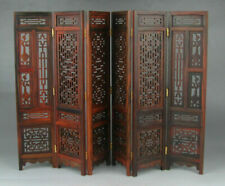 China rosewood suanzhi wood carved flower design small folding screen