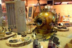 Antique Royal Scuba Diving US Navy Mark V Deep Sca Vintage Divers Helmet Replica