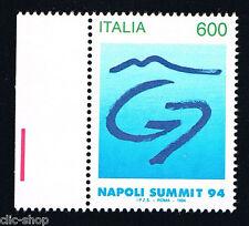 ITALIA IL FRANCOBOLLO VERTICE DEI G7 NAPOLI SUMMIT 1994 nuovo**