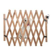 Pliant chat chien barrière en bois bambou porte de sécurité en expansion