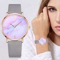 Women's Vogue Leather Band Simple Watches Analog Quartz Round Wrist Watch