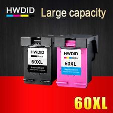 2 Ink Cartridges Printer HP 60 XL Black Tri Color HP Deskjet D2530 D2545 F2430