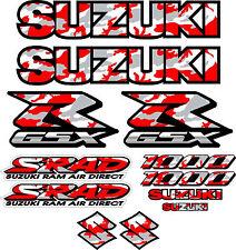 GSXR1000 Fairing Decal Stickers 1000 Red Camo Decals graphics Sticker Srad gsxr