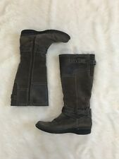 Clarks Womens Size 8M Brown Suede and Leather Buckle Accent Interior Zip Boots