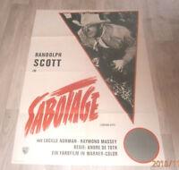 A1 Filmplakat  SABOTAGE , RANDOLPH SCOTT