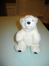 "INTERNATIONAL SILVER COMPANY WHITE POLAR STUFFED BEAR ANIMAL 9"" IN HEIGHT"