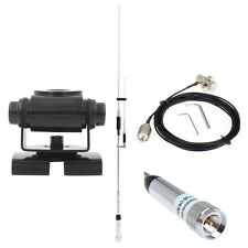 100w SP7200 3-band UHF VHF Radio Antenna+Nagoya Radio Mount+16FT Extension Cable