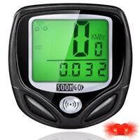 Ordinateur de Vélo Compteur de Vitesse Imperméable Multifonctions LCD