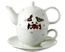 TEA FOR ONE SET HOT DRINK GANOVEN DUO GRAU STERNE MILA SET KANNE TASSE TELLER