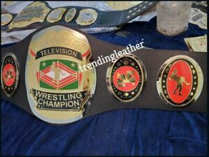 NWA Television Wrestling Championship Title Belt Adult Size Leather Strap