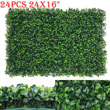 Artificial Grass Boxwood Wall Fake Hedges Greenery Backdrop 24pcs 24