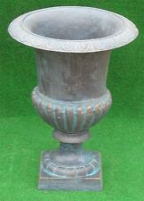 grosse schwere GussEisen Amphore - antik grün - 42cm-Kratervase-Louvre Vase
