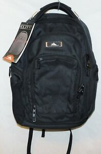 New Unisex High Sierra Elite Business Backpack - Black