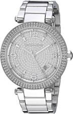 Authentic Michael Kors Parker Darci Silver Crystals Women's MK6509 Watch