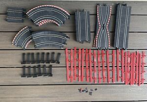 SCX Compact 1:43 Slot Car TRACK Lot PARTS Straight CURVED Supports RAILS
