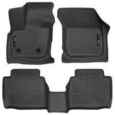 Husky Black Front & 2nd Row Floor Liners for 2017-2018 Ford Fusion Lincoln MKZ