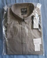 Only & Sons Men's Frost Grey Button Down Long Sleeved Shirt Size S New With Tags