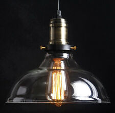 Retro Industrial Loft Cafe Dining Glass Ceiling Pendant Hanging Light Lamp Shade